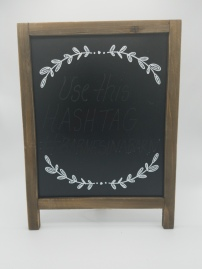 Chalkboard with vines