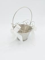 Silver Flowergirl Basket